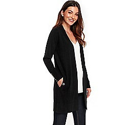 Wallis - Black longline cardigan