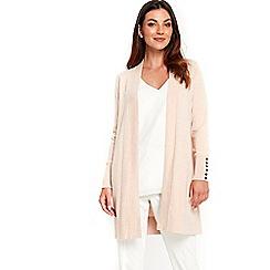 Wallis - Blush longline cardigan