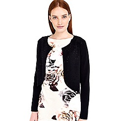 Wallis - Black embellished shrug