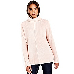 Wallis - Pale pink polo neck jumper