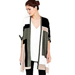 Wallis - Khaki colour block wrap