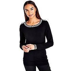 Wallis - Cream and black jumper