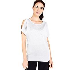 Wallis - Silver hotfix cold shoulder