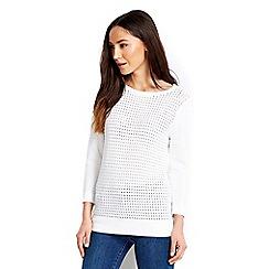 Wallis - White airtex jumper