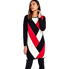 Wallis - Red chevron visual tunic