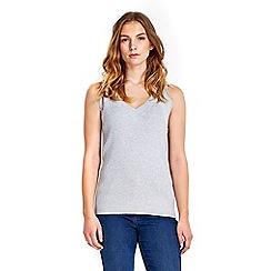 Wallis - Sleeveless v-neck rib jumper