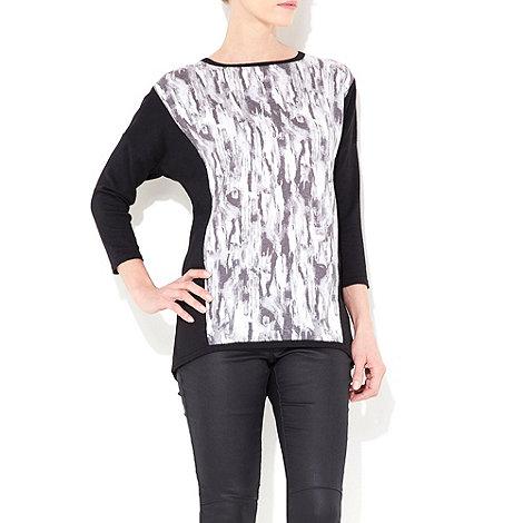 Wallis - Black colour block jumper
