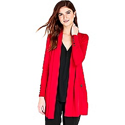 Wallis - Red longline shawl cardigan