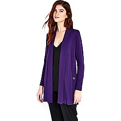 Wallis - Purple longline shawl cardigan