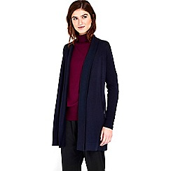 Wallis - Navy longline shawl cardigan