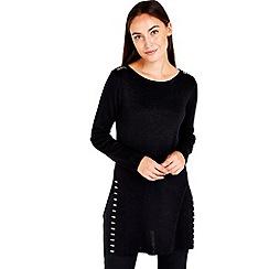 Wallis - Black metallic stud tunic jumper