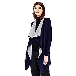 Wallis - Navy double faced cardigan