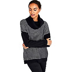 Wallis - Black patterned chunky jumper