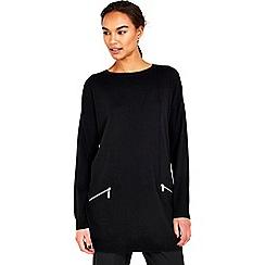Wallis - Black zip tunic