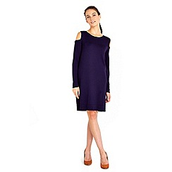 Wallis - Purple cut out shoulder dress