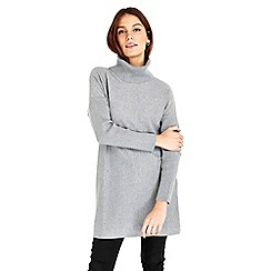Wallis - Grey cowl neck tunic