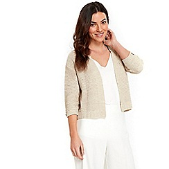 Wallis - Stone stitchy shrug