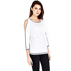 Wallis - White cold shoulder top