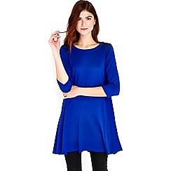 Wallis - Blue knitted swing dress