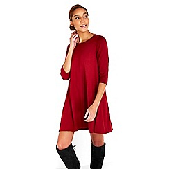 Wallis - Rust knitted swing dress