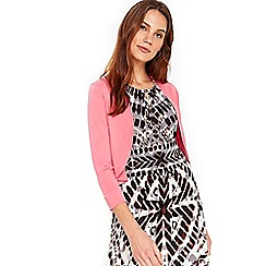 Wallis - Blush curve crepe shrug