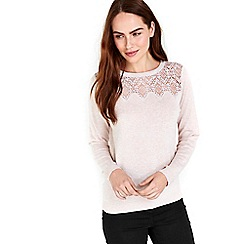 Wallis - Pink lace detail jumper