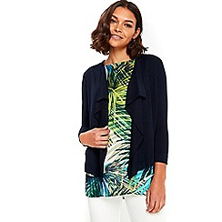 Wallis - Navy waterfall shrug
