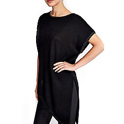 Wallis - Black asymmetric tipped jumper