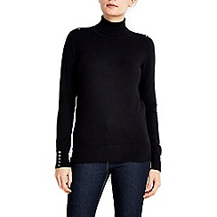 Wallis - Black polo neck jumper