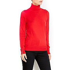 Wallis - Red polo neck jumper
