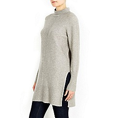 Wallis - Grey high neck knitted tunic