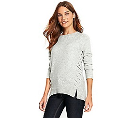 Wallis - Grey whipstitch jumper