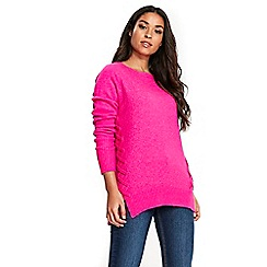 Wallis - Pink whipstitch jumper