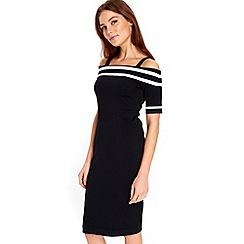 Wallis - Black bardot strap dress