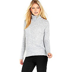 Wallis - Grey sleek roll neck jumper