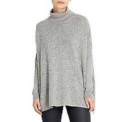 Wallis - Grey zip hem jumper