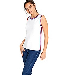 Wallis - Ivory strap tank top