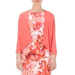 Wallis - Coral half sleeve shrug