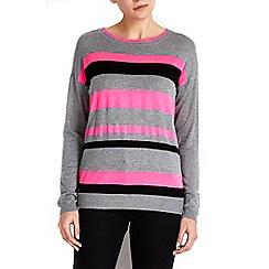 Wallis - Pink neon striped jumper