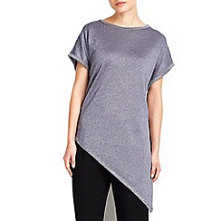 Wallis - Dark grey aysmmetric tipped jumper