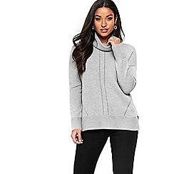 Wallis - Grey cashmere blend roll neck