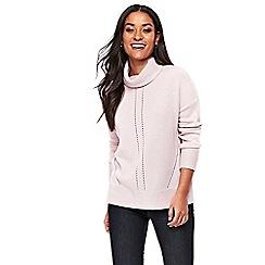 Wallis - Blush cashmere blend roll neck jumper