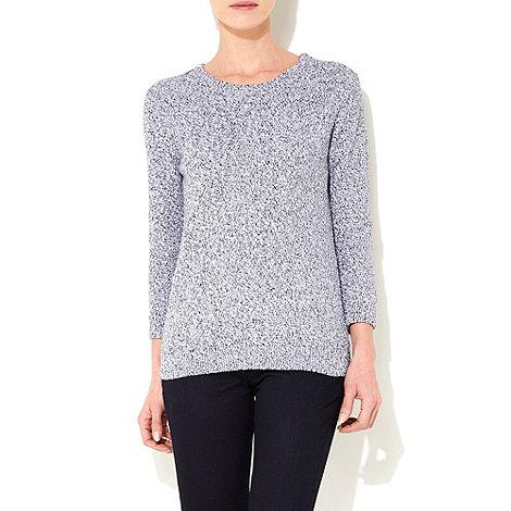 Wallis - Black zip shoulder jumper