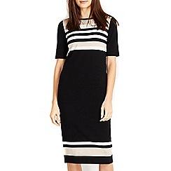 Wallis - Black stripe sleeve jumper dress