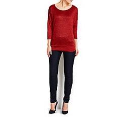 Wallis - Rust metallic 3/4 sleeve jumper