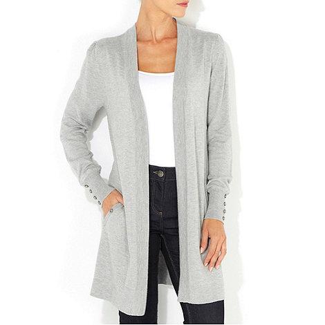 Wallis - Grey long cardigan