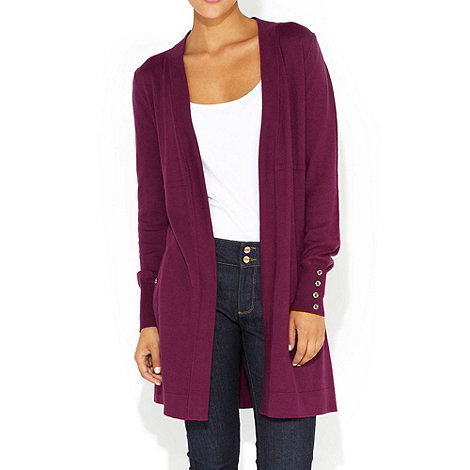 Wallis - Purple long cardigan