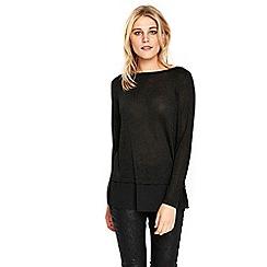 Wallis - Black metallic 2in1 sweater