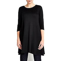 Wallis - Black zip back swing dress