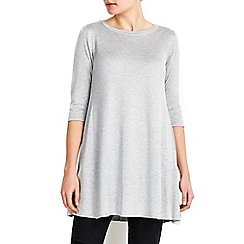 Wallis - Grey zip back swing dress